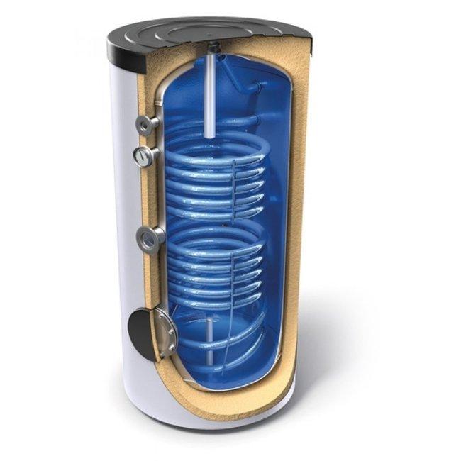 Tesy Buffertank 160 liter, B label, met dubbele warmtewisselaar