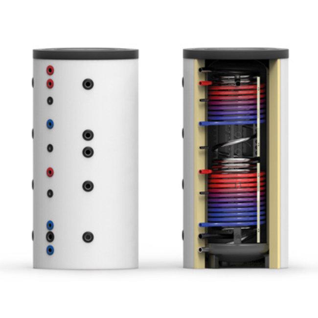 Thermic Energy SKS-2W 500 liter combi-buffertank met dubbele warmtewisselaar,  geschikt voor tapwater