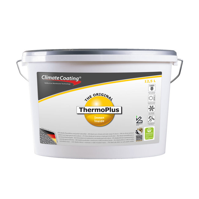 ClimateCoating Interieur- Thermoplus - energiebesparende muurverf Interieur Thermoplus - wit of kleur