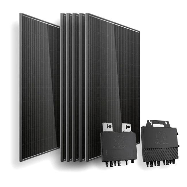 Doe het zelf pakket -  6 zonnepanelen - On grid