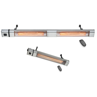 Quality heating Terras infrarood golden heater 2400Watt of 3000 Watt  met afstandsbediening, vermogen instelbaar