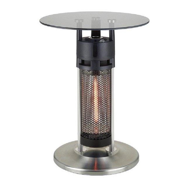 Quality heating Lage glazen infrarood bijzettafel  terrasheater 1200Watt -QH1265G
