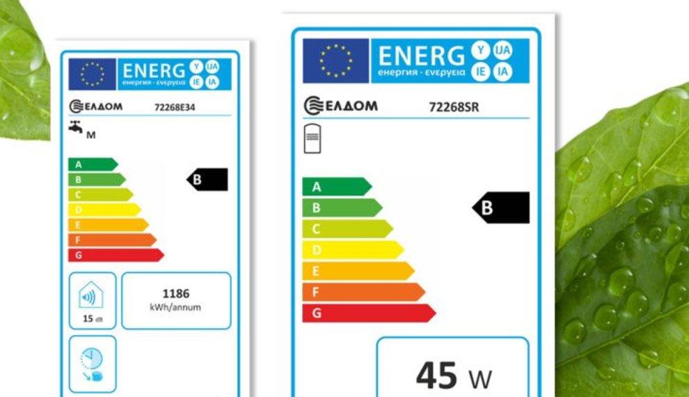 Energieprestatie label voor boilers
