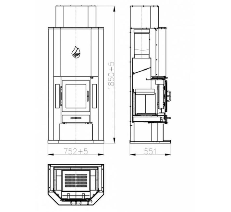 Diplomat 11 CV Houtkachel (14 kW)