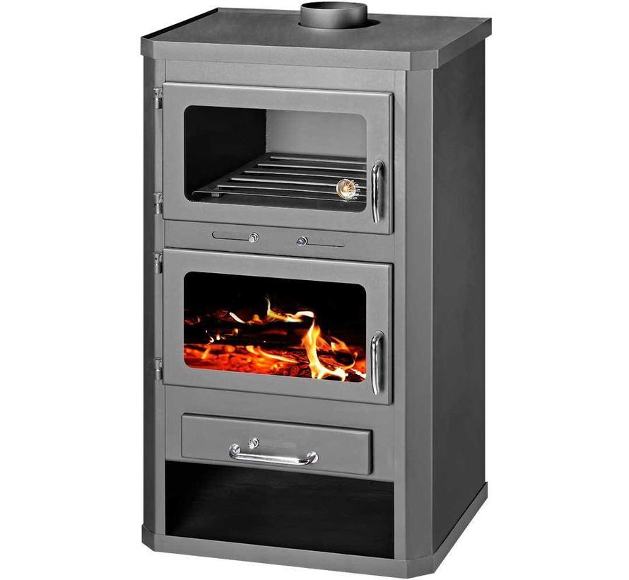 Lotos Max FTB, vrijstaande CV Houtkachel met oven, 19 kW
