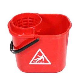 ACOR Minimopemmer kunststof 14 liter rood met uitwringkorf