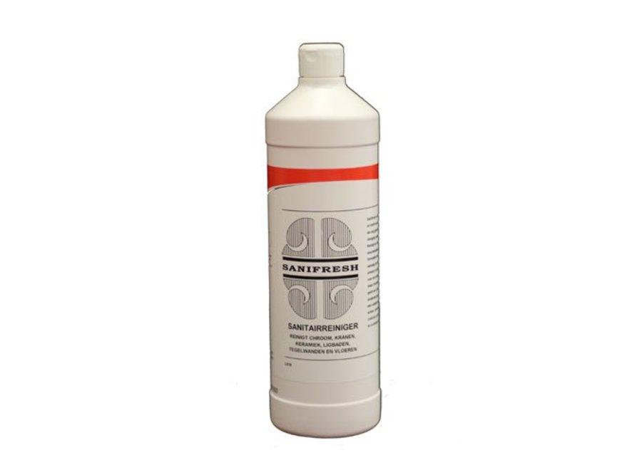 Sanitairreiniger Sanifresh 1 ltr. voor streepvrije en stralende glans.