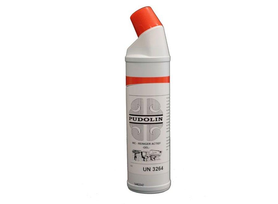 WC reiniger Pudolin actief gel 750 ml.