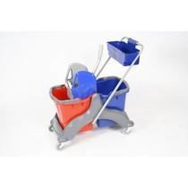 ACOR Rolemmer 2x17 ltr. Economisch inclusief duwbeugel, materiaalbakje & strengenmop-pers