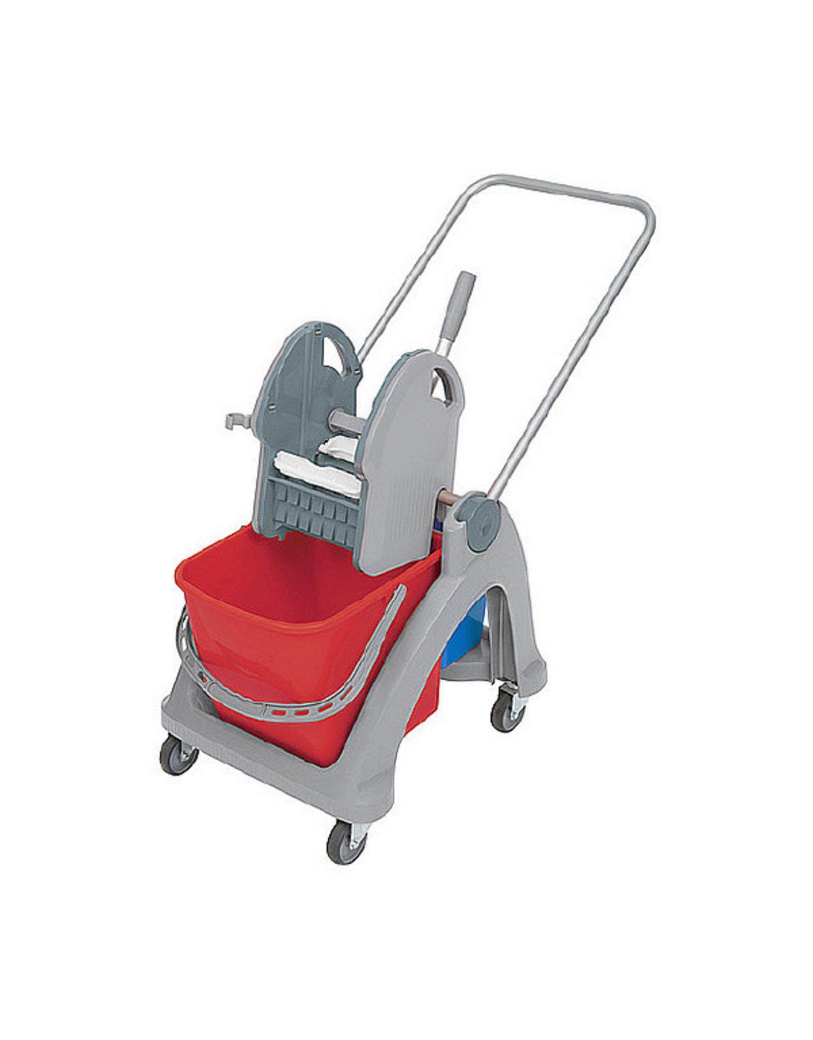 ACOR Rolemmer Eastmop 25 liter met extra 5 liter emmer, compleet met pers, duwbeugel. (Splats)