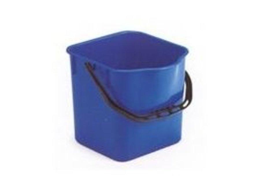 Emmer 18 ltr. blauw vierkant