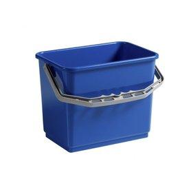 Acor Wringpersemmer 6 ltr. blauw rechthoek voor materiaalwagen of werkemmer