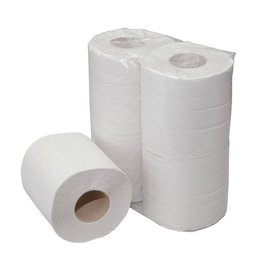Acor Toiletpapier , ECO recycled tissue wit. 2-laags 400 Vel