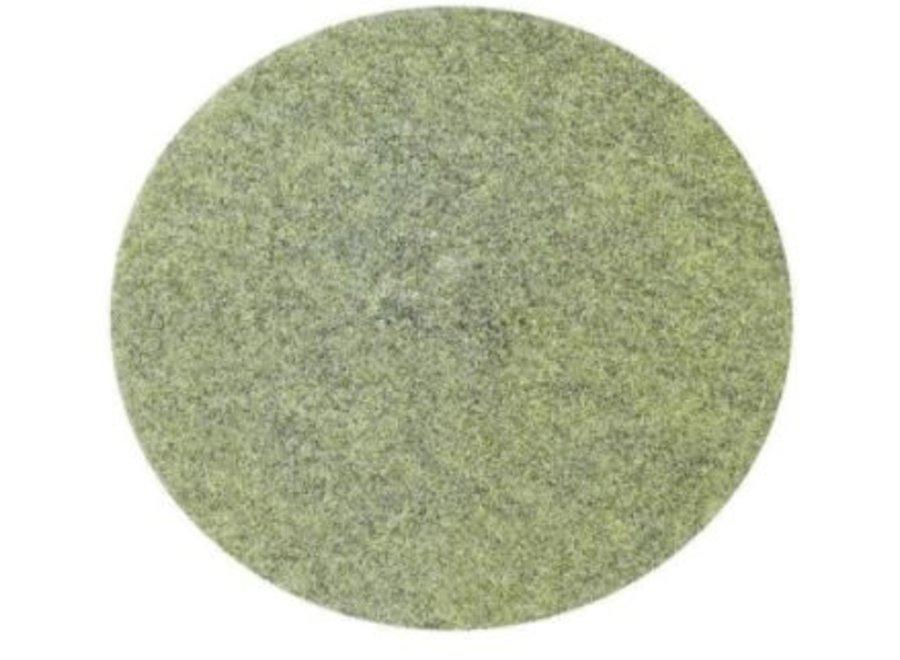 Diamantpads 42.5 cm, 2 cm, 17 inch groen voor natuursteen, graniet en beton schoon en van mat naar hogere glans te brengen.