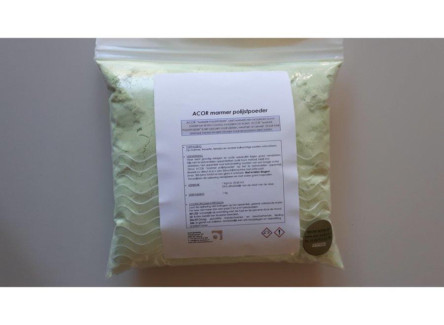 Polijstpoeder 1.0 kg voor al uw kalkhoudend gesteente. Marmer, travertin etc.