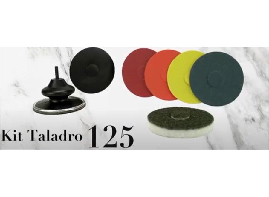 Magic boor/polijstset diameter 125 mm