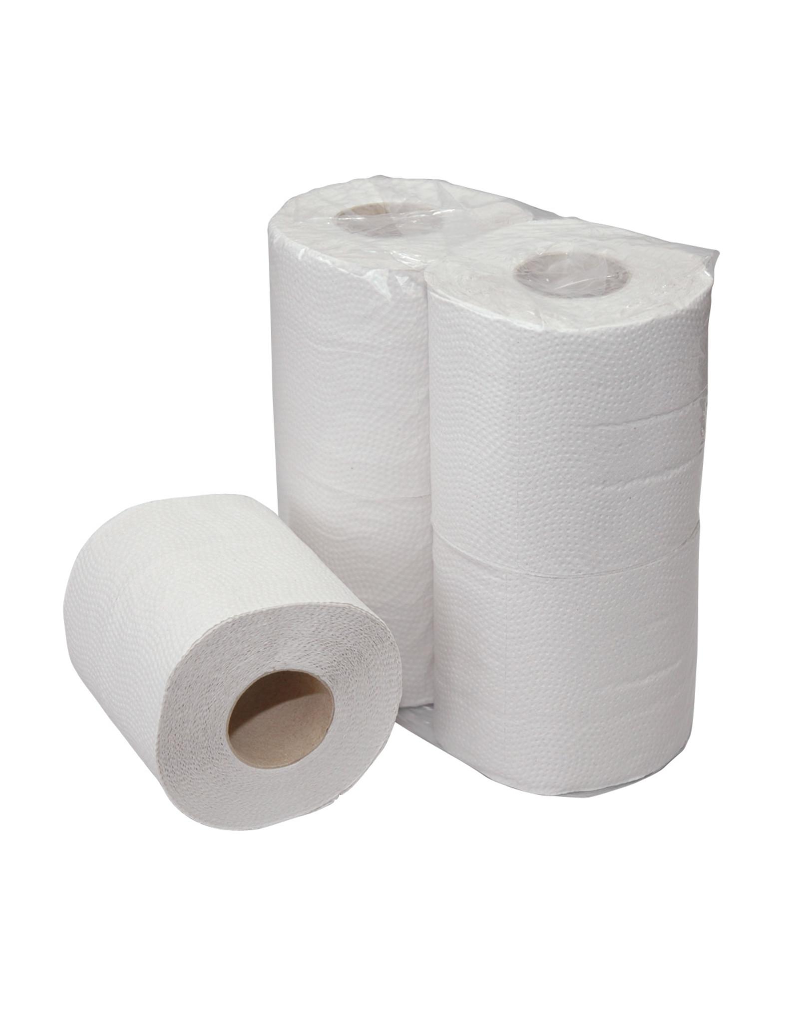 ACOR Traditioneel naturel 1-laags toiletpapier, ideaal voor organisaties en particulieren.