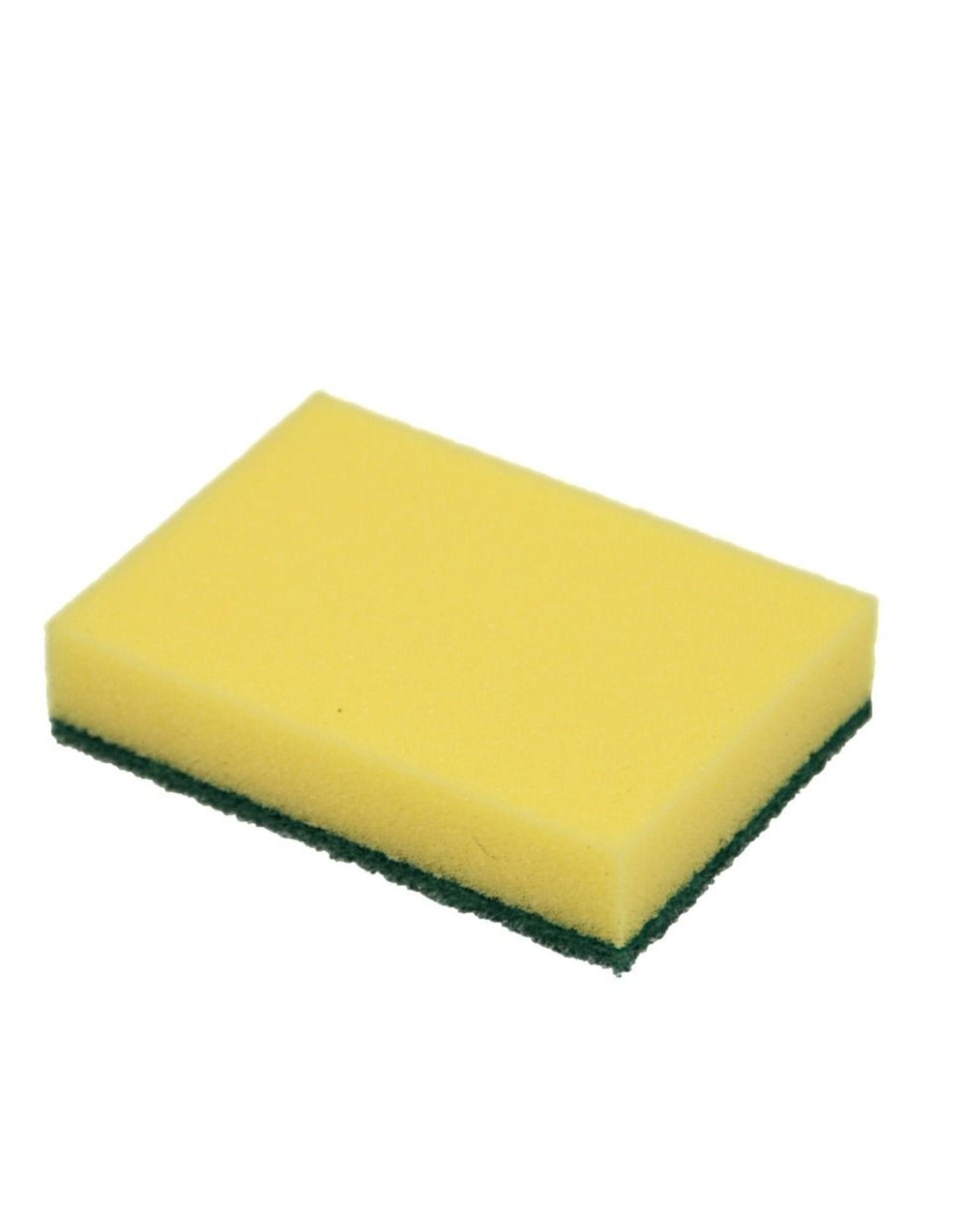 ACOR Reinigingsspons 10 stuks geel / groene pad. 14x10x3cm
