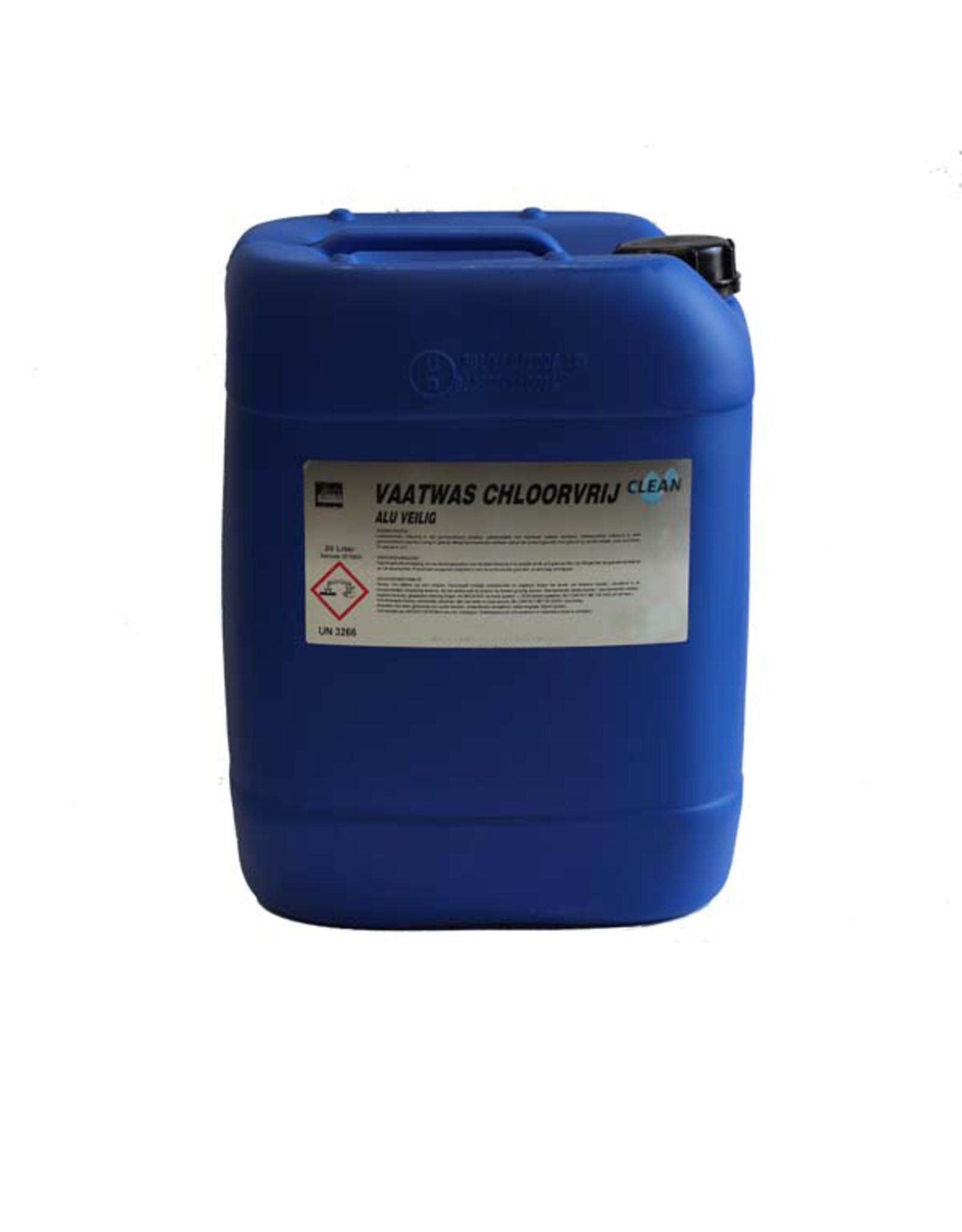 CLEAN Clean Vloeibaar Vaatwasmiddel 20 ltr. chloorvrij / aluminiumveilig