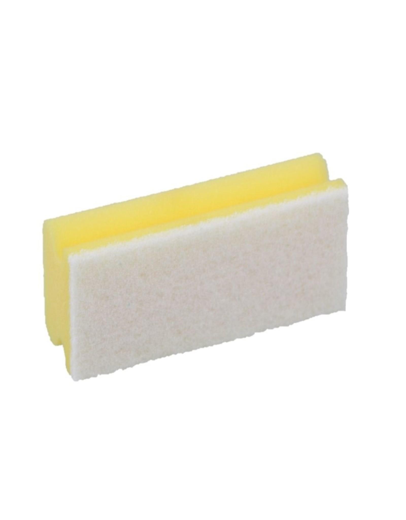 Spons m.greep. 7x14,5x4,3cm. geel witte krasvrije pad (5st.)