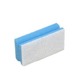 Spons m.greep.7x13,5x4 cm. blauw witte krasvrije pad