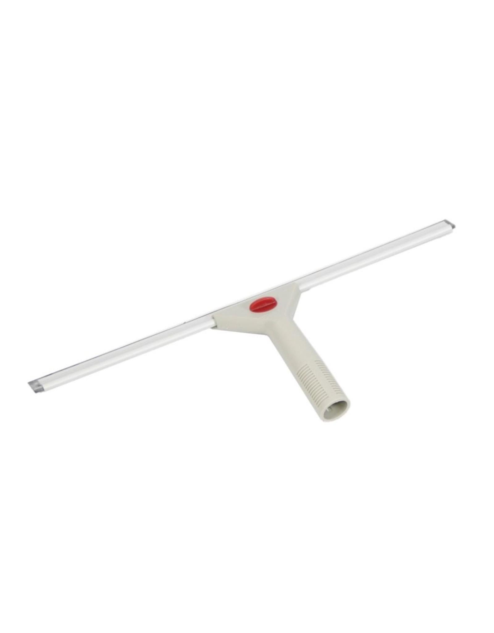 Ruitenwisser kunststof 45cm compleet. grijs/rode knop
