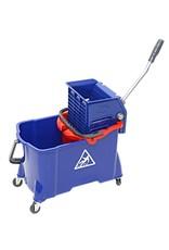 ACOR Rolemmer met binnenemmer 24/8 ltr. blauw/rood + vlakmoppers.