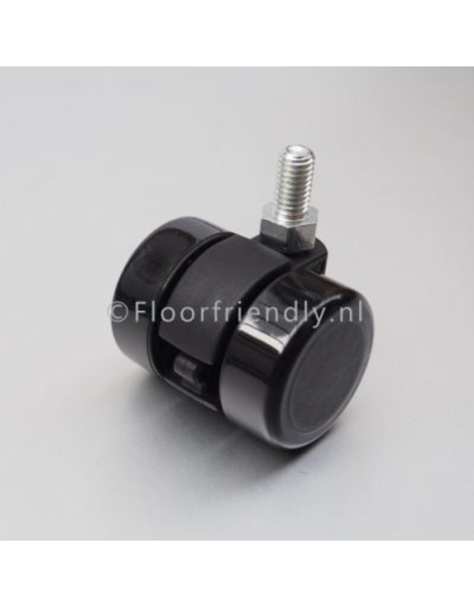 Floorfriendly Zwenkwiel met zachte mantel, 35mm