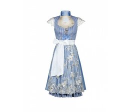 Astrid Söll Dirndl Couture Marry Me - Modell Catherine Blau mit Arm
