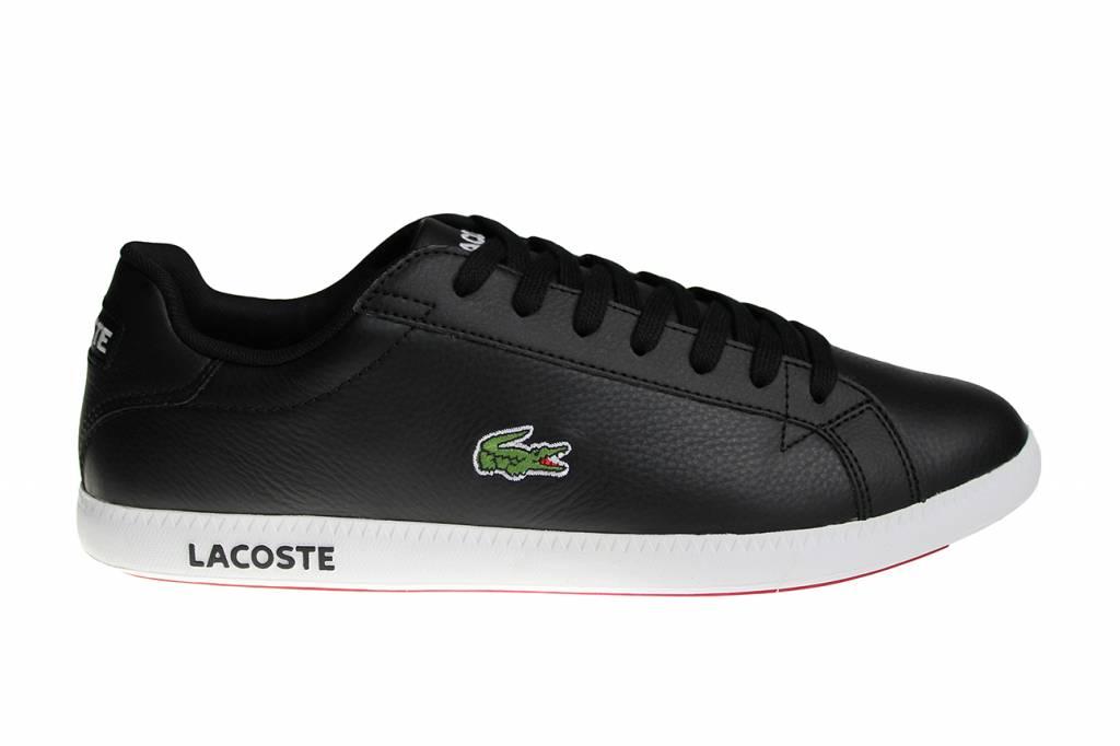 71c50184c3d59 Lacoste Graduate LCR3 SPM Blk Blk (Black White) Lth Syn 7-31SPM009602H Men s  Shoes
