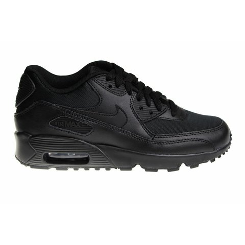 d5604c2e597 Nike Air Max 90 Mesh (GS) All Black 833418 001 Kids | Sneakerpaleis