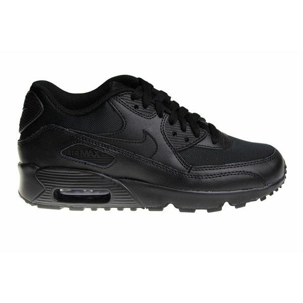 Nike Air Max 90 Mesh (GS) Helemaal Zwart 833418 001 Kinder Sneakers