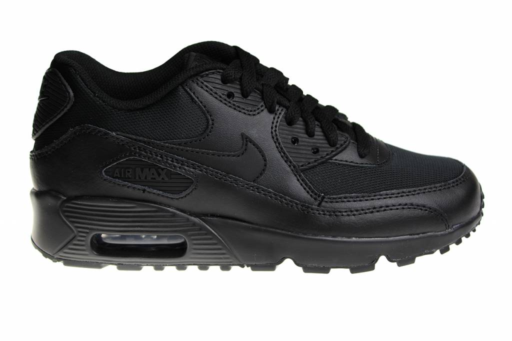 promo code 9c8a8 aeae3 Nike Air Max 90 Mesh (GS) All Black 833418 001 Kids Sneakers