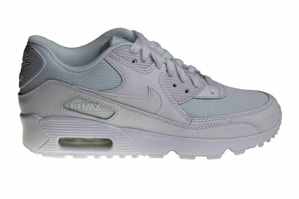 buy online d8367 babee Nike Air Max 90 Mesh (GS) All White 833418 100 Kids Sneakers