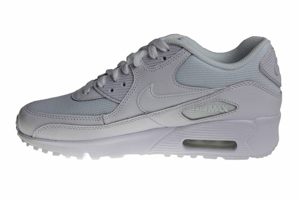 buy online 42c7d cf07e Nike Air Max 90 Mesh (GS) All White 833418 100 Kids Sneakers