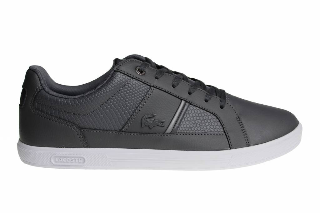 5597a28bd5d Lacoste Europa Spm Gry Lth Syn (Gray White) 7-34SPM0044248 Men s Shoes