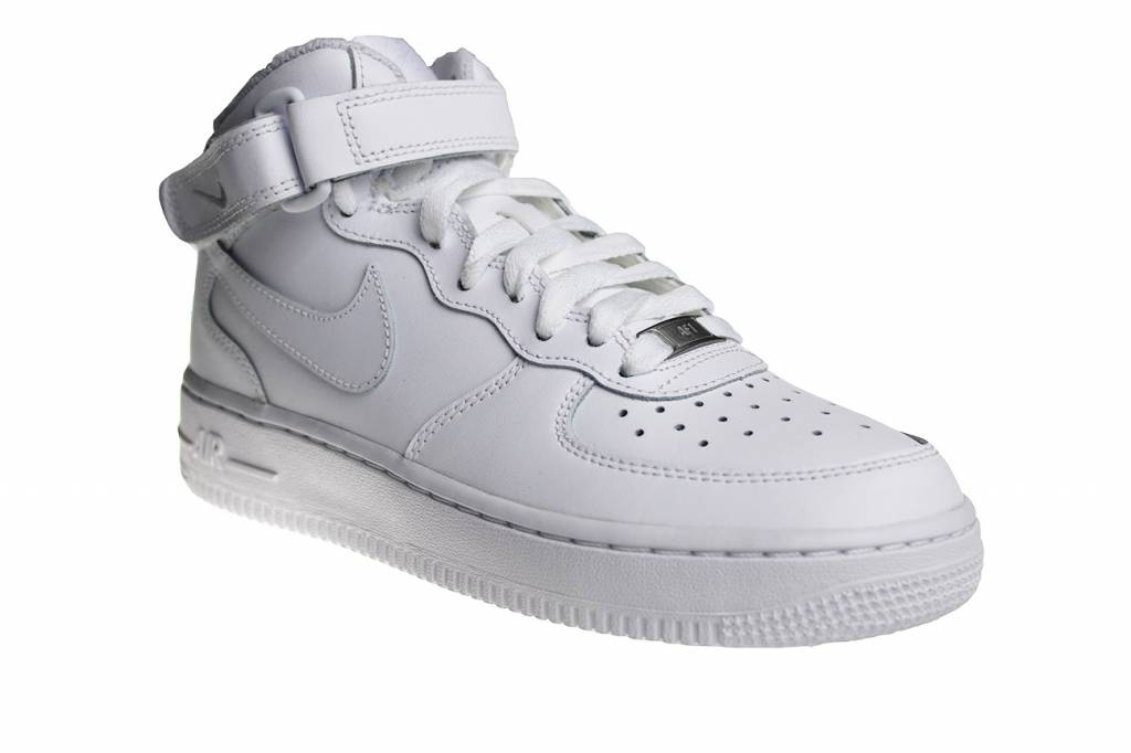 3a9bc3d9ab3 Nike Air Force 1 Mid (GS) 314195 113 (Helemaal Wit) | Sneakerpaleis