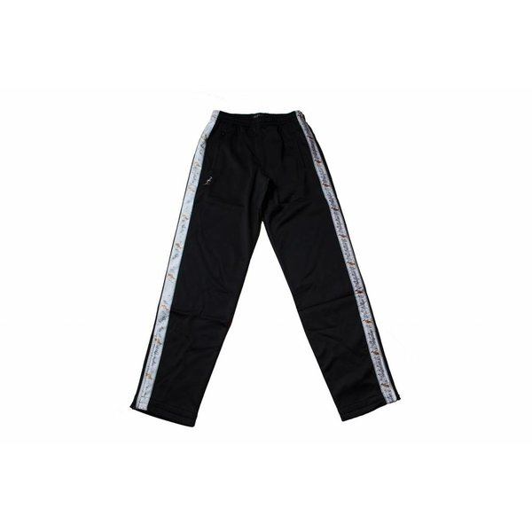 Australian Pantalon Triacetat Met Bies Black (Zwart) 85057.B003 Herenbroeken