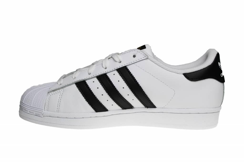 Adidas Superstar J (Juniors) White/Black/Gold C77154 Juniors' Sneakers
