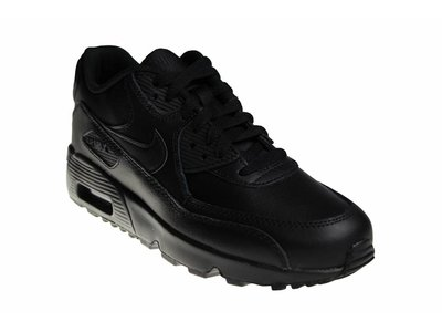Nike Air Max 90 LTR (GS) Helemaal Zwart Leer 833412 001 Junioren Sneakers