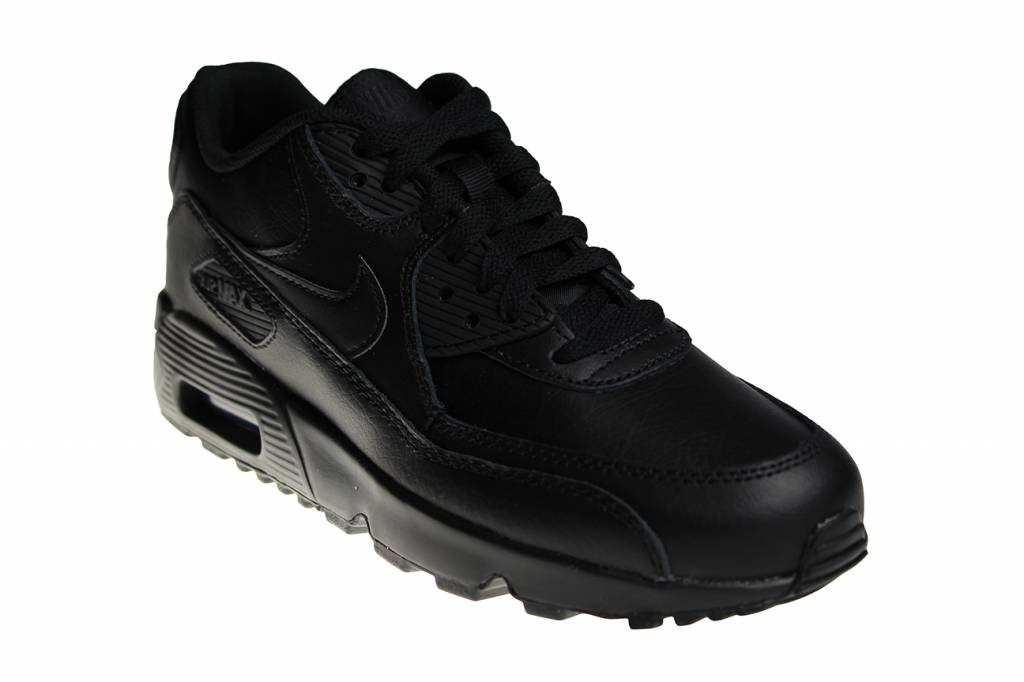 finest selection 73e41 da778 ... canada nike air max 90 ltr gs all black leather 833412 001 juniors  sneakers eaa5f 3a05a