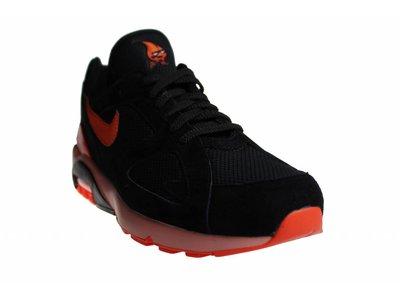 Nike Air Max 180 Black/Orange AV3734 001 Men's Sneakers