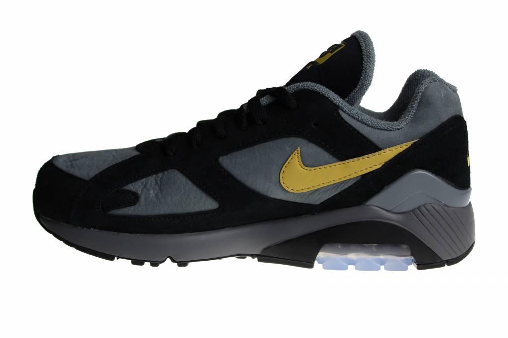bdaacca7192 Nike Air Max 180 Black Grey Yellow AV7023 001 Men s Sneakers