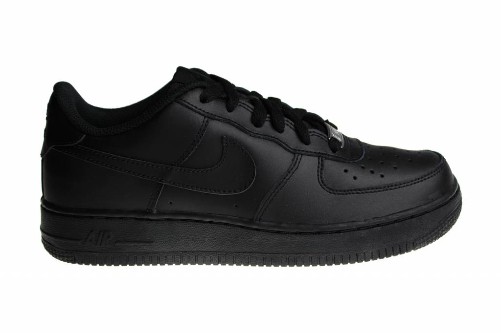 info for 7bf7d b7e61 Nike Air Force 1 (GS) Black Low 314192 009 Juniors Sneakers