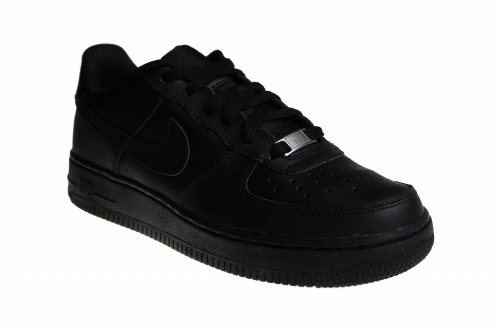 on sale 03a19 8a715 Nike Air Force 1 (GS) Black Low 314192 009 Juniors  Sneakers