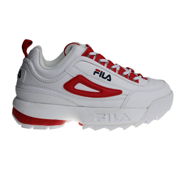 Fila Disruptor CB Low Wmn (Wit/Rood) 1010604.02A Dames Sneakers