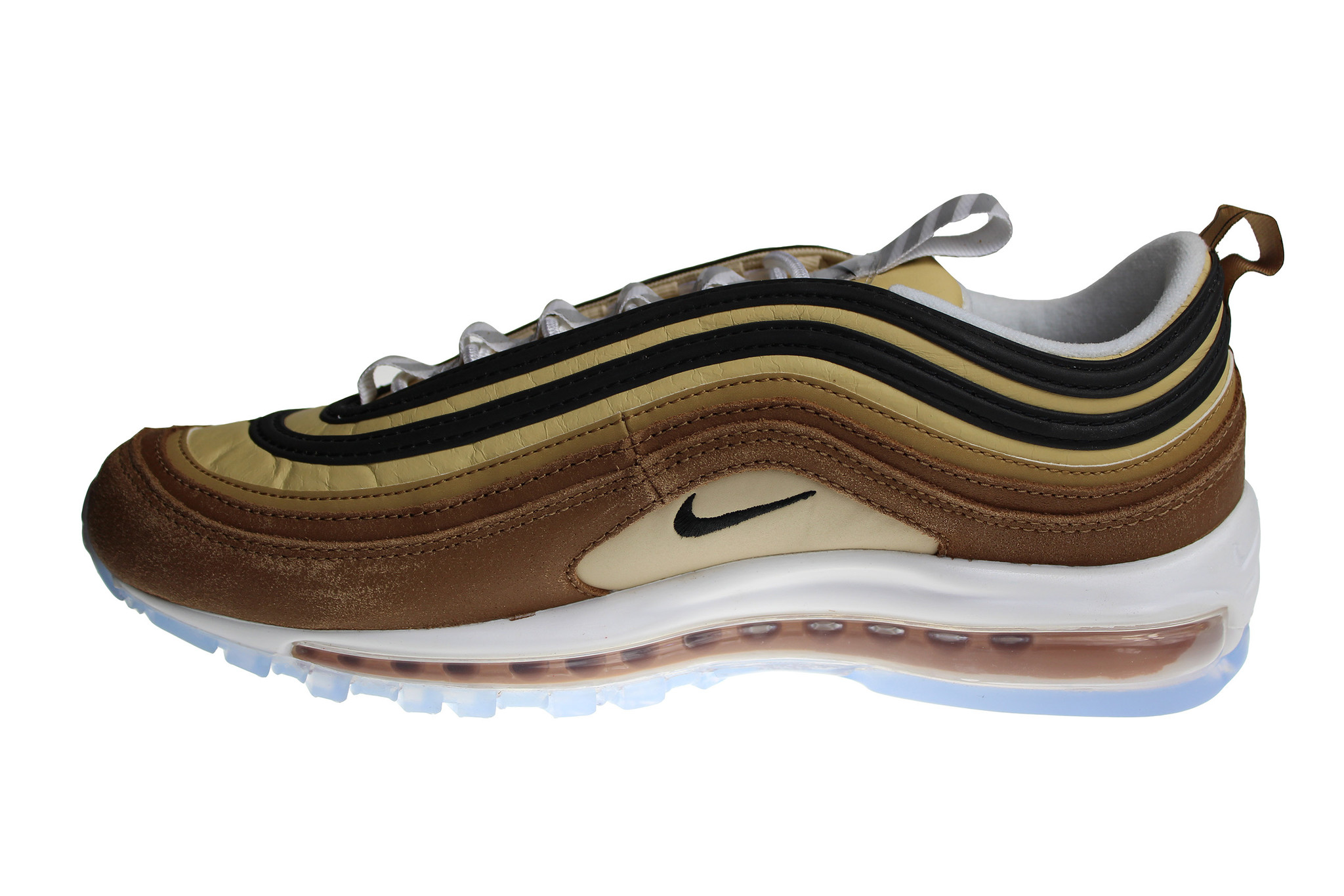 plus récent e860d 5fefc Nike Air Max 97 Brown/Beige/White/Turquoise 921826 201 Men's Sneakers