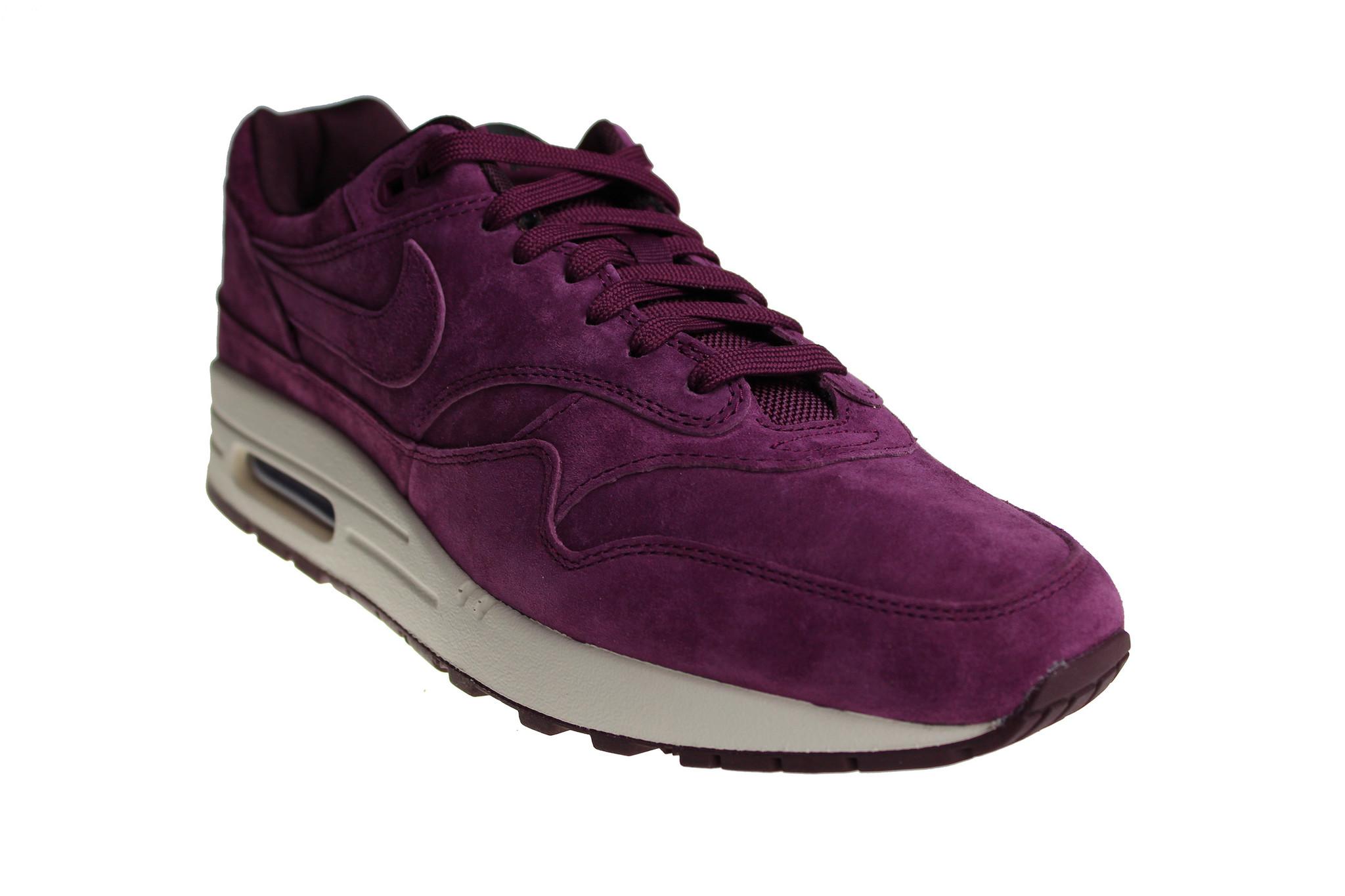 the latest 7f397 7403d Nike Air Max 1 Premium (Bordeaux Off-White) 875844 602 Men s Sneakers