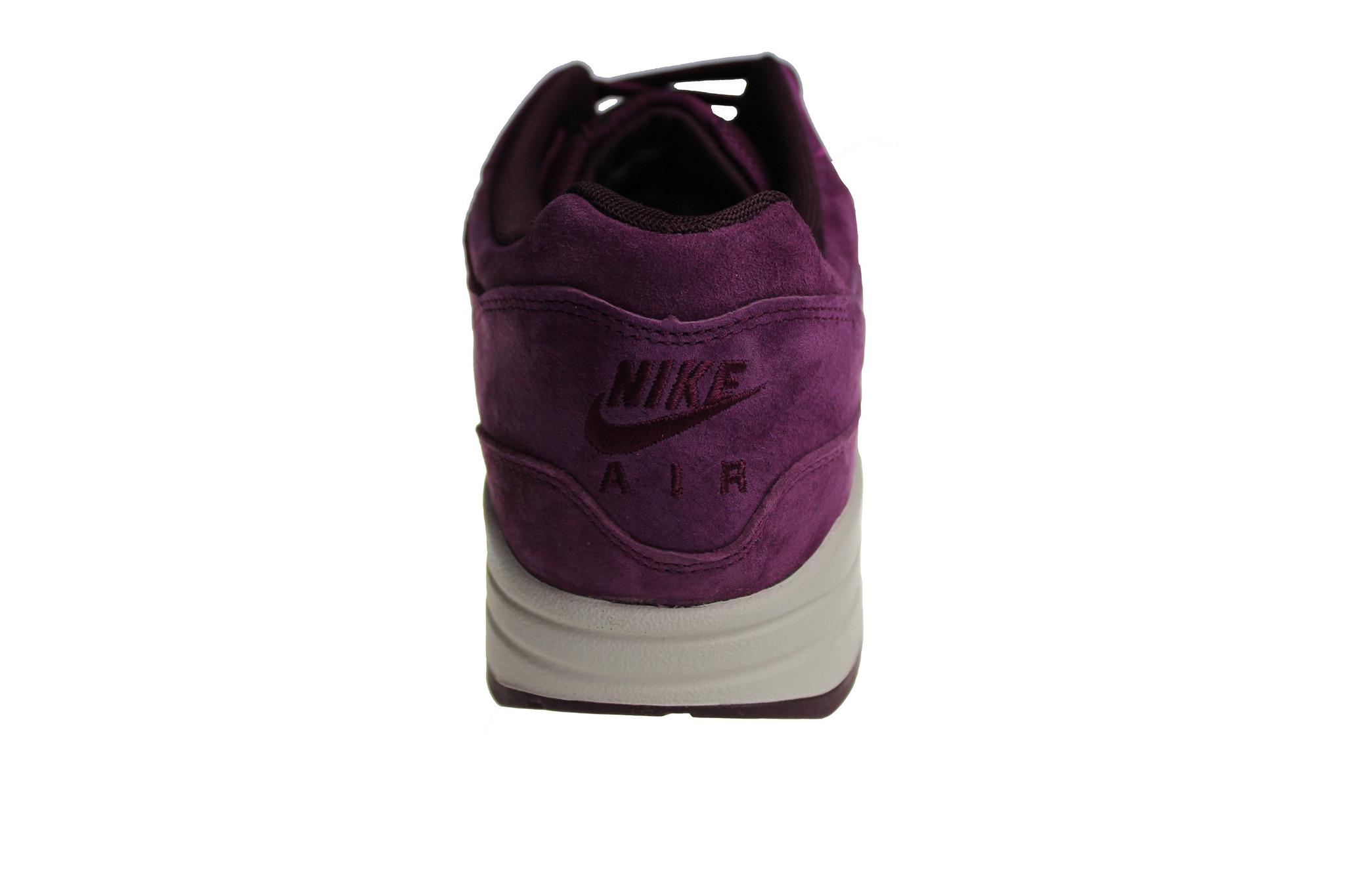20eebcb404 Nike Air Max 1 Premium (Bordeaux/Off-White) 875844 602 Men's Sneakers