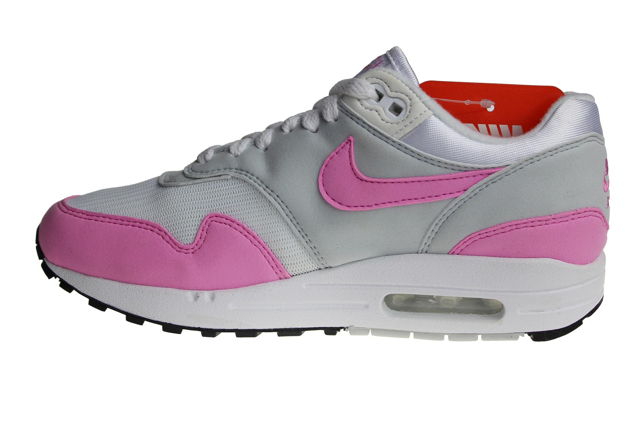 Nike W Air Max 1 Ess (RozeGrijsWit) BV1981 101 Dames Sneakers